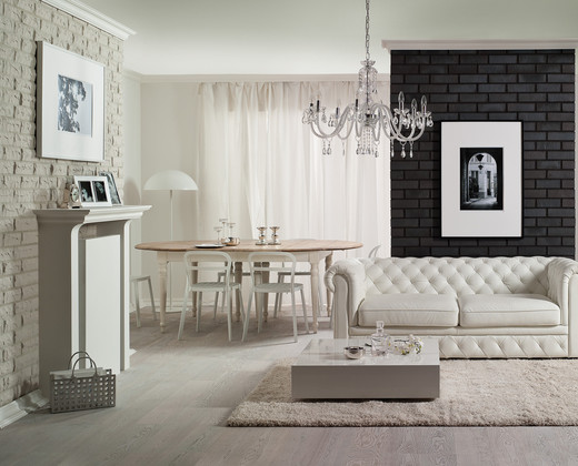 Glamour brick living room